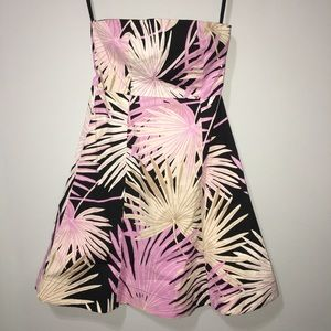 1 GAP Strapless Palm Tree Tropical Vacation Dress